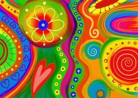 fondo artístico del doodle del arte popular vector
