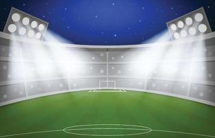 Night Football Stadium Background vector
