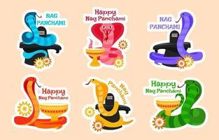 Nag Panchami Sticker vector