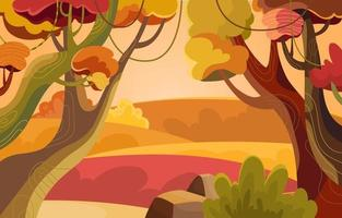 Forest Autumn Background vector