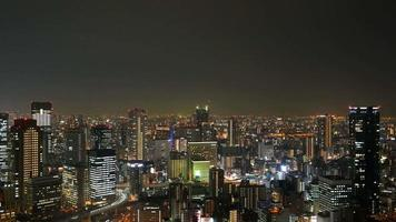timelapse osaka stadshorisont i osaka, japan video