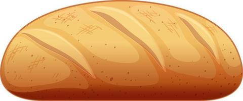 Baguette in cartoon style isolated on white background vector