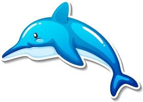 Dolphin sea animal cartoon sticker vector