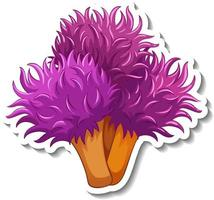 A sticker template with Coral sea element isolated vector