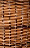 Traditional Natural Wooden Straw Basket photo