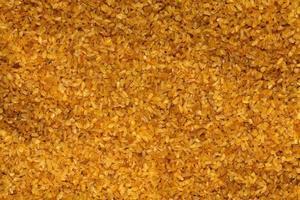 arroz bulgur de comida cruda saludable y deliciosa foto