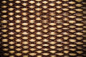 cesta de paja de madera natural tradicional foto