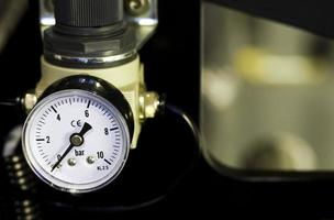 Mechanical watch showing the steam Manometer pressure photo