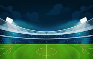 A Panoramic View of Football Stadium Background vector