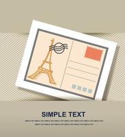 Postcard icon paper vector