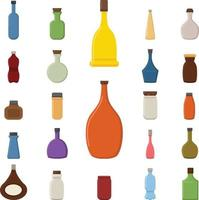 Bottle icons set vector