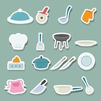 conjunto de iconos de cocina vector