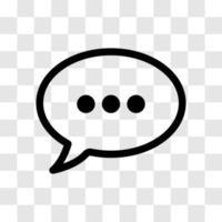 icono de cuadro de diálogo de mensaje en blanco vector