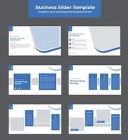 Latest Marketing Chart modern and professional presentation slides vector