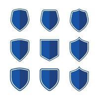 Shield Cartoon Icon Set vector