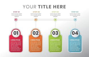 simple and clean step by step infographic vector