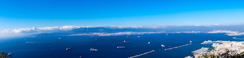 Gibraltar the apes rock in the mediterranean sea photo