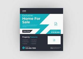 Real estate property social media post template vector