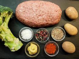 pastel de carne alemán tradicional foto