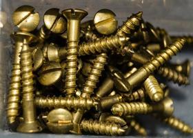 industrial iron nuts nails and screw photo