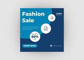 Fashion sale banner design. New arrival fashion social media design vector