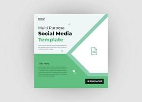 Multi-purpose social media post design vector