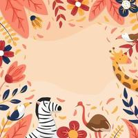 Nature Flora and Fauna Background vector