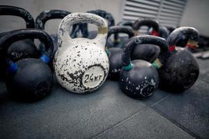 Sport equipment in gym photo