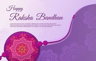 Raksha Bandhan Element in Purple Background vector