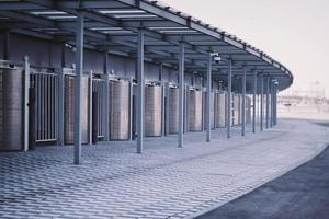 Outdoor street entrance turnstiles with anti-vandal system. photo
