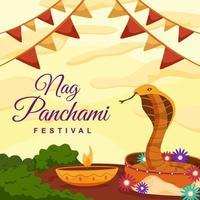 Festival Nag Panchami Background vector