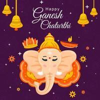 Happy Ganesh Chaturthi Festival vector