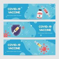 banner de vacuna covid19 vector