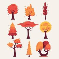 Autumn Tree Elements Pack vector