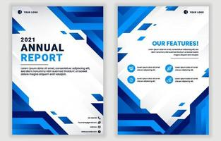 Annual Report Card Template vector