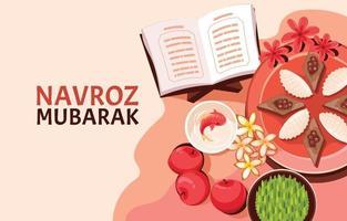Happy Navroz Mubarak Concept Template vector