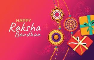 Happy Raksha Bandhan Indian Celebration Concept vector