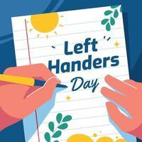 Happy International Lefthander Day vector