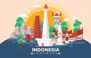Beautiful Indonesian Landmark vector