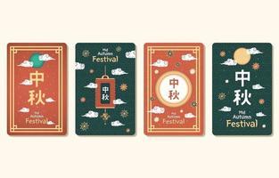 Mid Autumn Card Collection vector