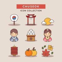 Chuseok The Major Harvest Festival in Korea vector