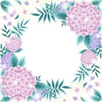 Beautiful Floral Hydrangea Background vector