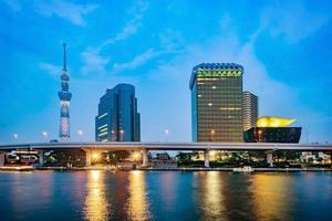 Cityscape of Tokyo skyline, Japan, Asia photo