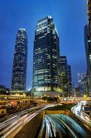 vista colorida de hong kong foto