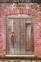Antique wooden door. photo