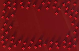 Group of Red Cross icon background. 3D rendering. photo