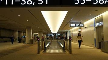 lapso de tiempo, gente abarrotada, en, aeropuerto video