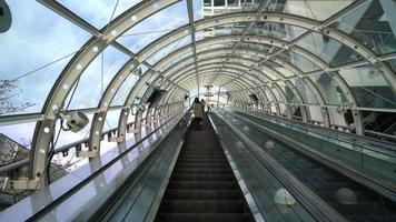Escalator moving at Odaiba, in Tokyo Japan video