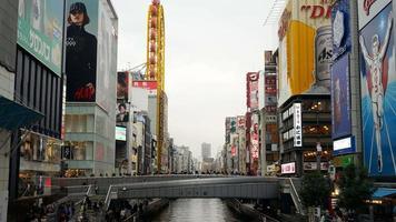 Time lapse crowded people at Namba market street in Osaka, Japan video