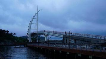 Time lapse Saeyeongyo Bridge in Jeju Island, South Korea video
